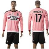 Juventus Camisas Futebol Mandzukic Manga Longa 2015/2016 Ii Masculina