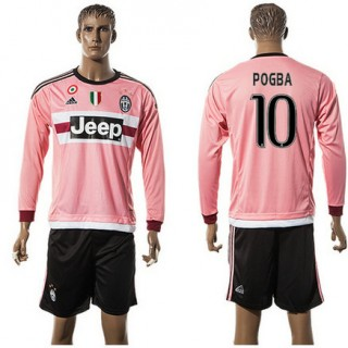 Juventus Camisas Futebol Pogba Manga Longa 2015-2016 Ii Masculina