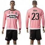 Juventus Camisas Vidal Manga Longa 2015-2016 Ii Masculina