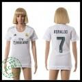 Real Madrid Camisas De Futebol Ronaldo 2015 2016 I Feminina