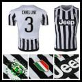 Uniforme De Futebol Juventus (3 Chiellini) 2015/2016 I Masculina