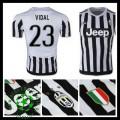 Camisas Du Futebol Juventus (23 Vidal) 2015 2016 I Masculina