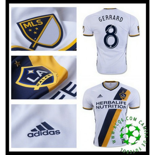 7a2403a81c88e Do Local De Venda Camisas Futebol Gerrard La Galaxy Masculina 2016-2017 I  Loja On-Line