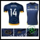 Camisa Futebol La Galaxy (14 Rogers) 2015/2016 Ii Masculina