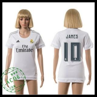 Real Madrid Camisetas James 2015 2016 I Feminina
