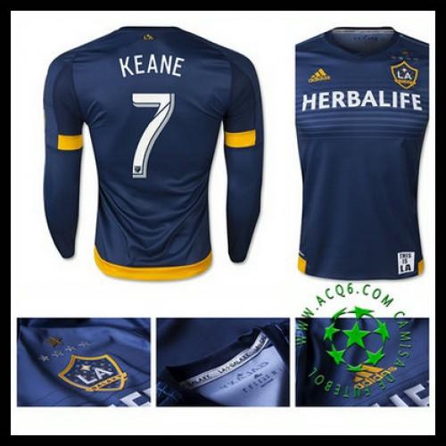 Camisa Futebol La Galaxy (7 Keane) Manga Longa 2015-2016 Ii Masculina cb08c006e8005