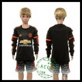 Manchester United Camisas De Futebol Manga Longa 2015-2016 Iii Infantil
