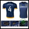 Camisas Futebol La Galaxy (4 Gonzalez) 2015 2016 Ii Masculina