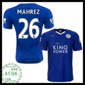 Novo Camisa Futebol Mahrez Leicester City Masculina 2015-2016 I Loja On-Line