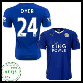 Comprar Uniforme Futebol Dyer Leicester City Masculina 2015/2016 I Mais Barato Online
