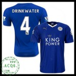 Jogo Uniforme De Futebol Drinkwater Leicester City Masculina 2015-2016 I Online Store