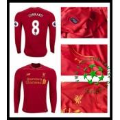 Camisa Futebol Liverpool Gerrard Manga Longa 2016-2017 I Masculina b246272c5699c