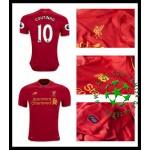 Camisa Futebol Liverpool Coutinho 2016 2017 I Masculina