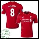 Jogo Camisas Futebol Steven Gerrard Liverpool Masculina 2015 2016 I Loja On-Line