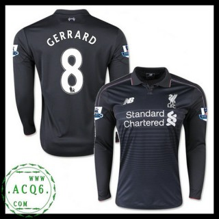 Criar Camisa Manga Longa Gerrard Liverpool Masculina 2015 2016 Iii Mais Barato Online