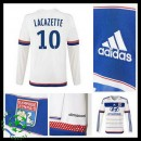 Camisas Du Futebol Olympique Lyonnais Lacazette Manga Longa 2015/2016 I Masculina