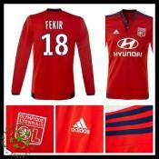 Camisas Olympique Lyonnais Fekir Manga Longa 2015/2016 Ii Masculina