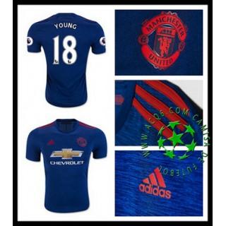 Camisa De Futebol Manchester United Young 2016 2017 Ii Masculina