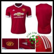 Camisa Du Futebol Manchester United 2015-2016 I Masculina