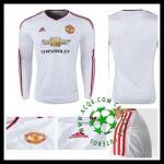 Uniforme De Futebol Manchester United Manga Longa 2015/2016 Ii Masculina