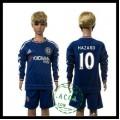 Chelsea Camisas Futebol Hazard Manga Longa 2015-2016 I Infantil