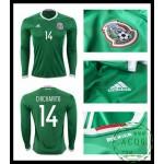 Loja Camisas Futebol Manga Longa Chicharito México Masculina 2016 2017 I Online Store