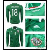 Comprar Camisa De Futebol Manga Longa A. Guardado México Masculina 2016-2017 I Loja On-Line