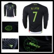 Camisa Futebol México (7 M.Layun) Manga Longa 2015 2016 I Masculina