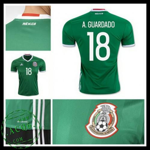 Camisa Futebol México A.Guardado 2016 2017 I Masculina - camisolas ... 1d44495f501c5