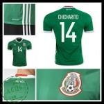 Camisas De Futebol México Chicharito 2016/2017 I Masculina