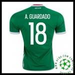 Desenho Uniforme Futebol A.Guardado México Masculina 2016 2017 I Loja On-Line