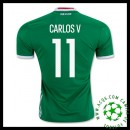 Gagné Camisa Futebol Carlos V México Masculina 2016/2017 I Loja On-Line