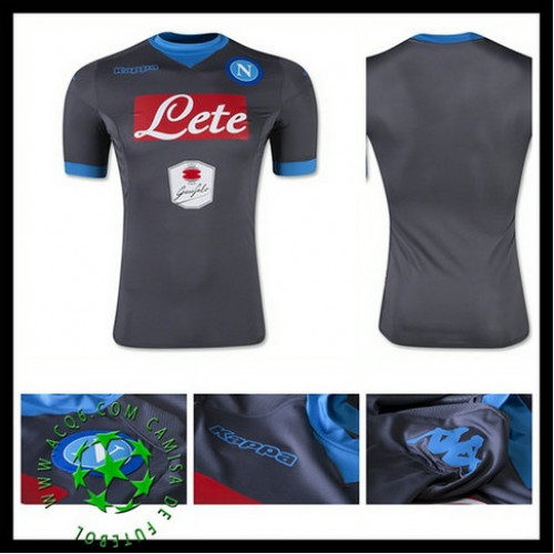 801c1a56ae6d3 Camisa De Futebol Napoli 2015 2016 Ii Masculina - camisolas de ...