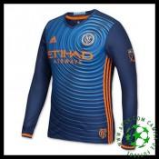A Partir De Venda Camisas De Futebol Manga Longa New York City Fc Masculina 2016/2017 Ii Loja On-Line