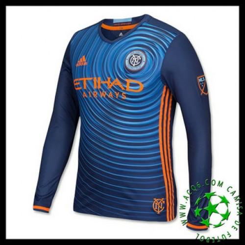 A Partir De Venda Camisas De Futebol Manga Longa New York City Fc Masculina  2016 2017 Ii Loja On-Line d4b7882d63726