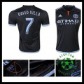 Camisa Futebol New York City Fc (7 David Villa) 2015/2016 Ii Masculina
