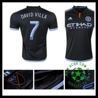 Camisa Futebol New York City Fc (7 David Villa) 2015/2016 Ii Masculina