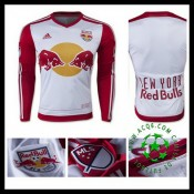 Camisas De Futebol New York Vermelho Bulls Manga Longa 2015-2016 I Masculina