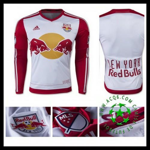 Camisas De Futebol New York Vermelho Bulls Manga Longa 2015-2016 I Masculina eba587a099ed2