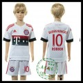 Bayern München Camisas Futebol Robben 2015 2016 Ii Infantil