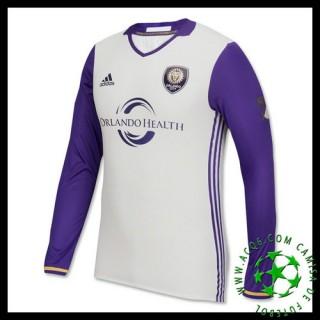 De Vendas Camisas Du Futebol Manga Longa Orlando City Masculina 2016 2017 Ii Loja On-Line