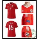 Criar Camisas Futebol Ledley País De Gales Masculina Euro 2016/2017 I On-Line