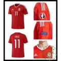 Verdadeiro Camisa Futebol Bale País De Gales Masculina Euro 2016/2017 I Loja On-Line