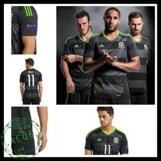 Camisa Du Futebol País De Gales Bale Euro 2016/2017 Ii Masculina