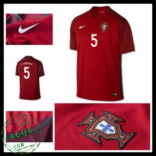 Camisa Futebol Portugal F.Coentrao Euro 2016 2017 I Masculina ... ddb39c57650bc