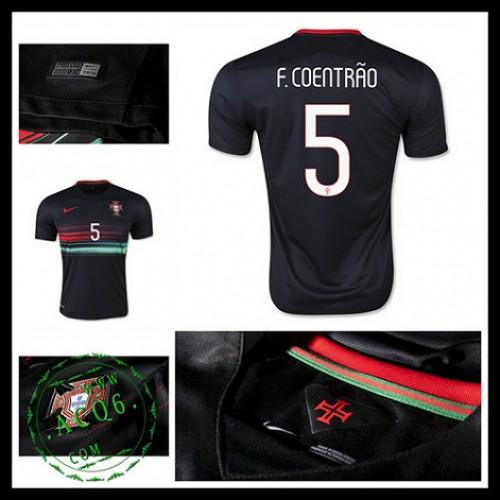 Uniformes De Futebol (5 F.Coentrao) Portugal Autêntico Ii Euro 2016  Masculina 4aabc7407c135