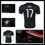 Uniforme Futebol (17 Nani) Portugal Autêntico Ii Euro 2016 Masculina