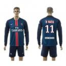 Paris Saint Germain Camisa Futebol Di Maria Manga Longa 2015-2016 I Masculina