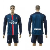 Paris Saint Germain Camisa Futebol Manga Longa 2015/2016 I Masculina