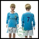 Manchester City Camisa Futebol Sterling Manga Longa 2015/2016 I Infantil
